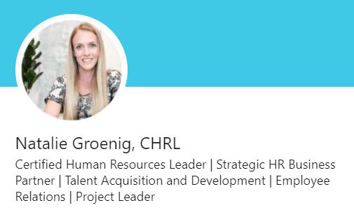 Natalie Groenig LinkedIn Headline