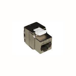 10 pz: Frutto RJ45 categoria 6A schermato tooless