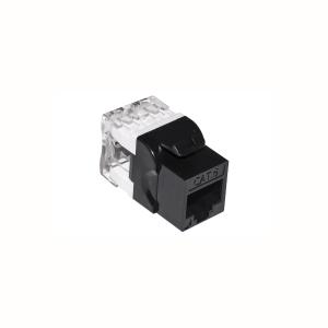 10 pz: Frutto RJ45 categoria 6 UTP colore nero