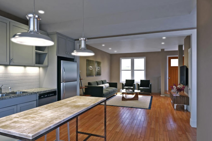 Tribeca RVA New Homes in Richmond VA Interior Rendering Kitchen