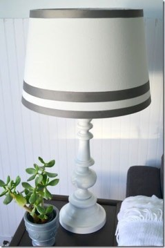 refurbished lamp and lampshade on desk