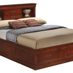 Glory Cherry King Storage Bed With Bookcase Headboard Reviews Goedekers Com