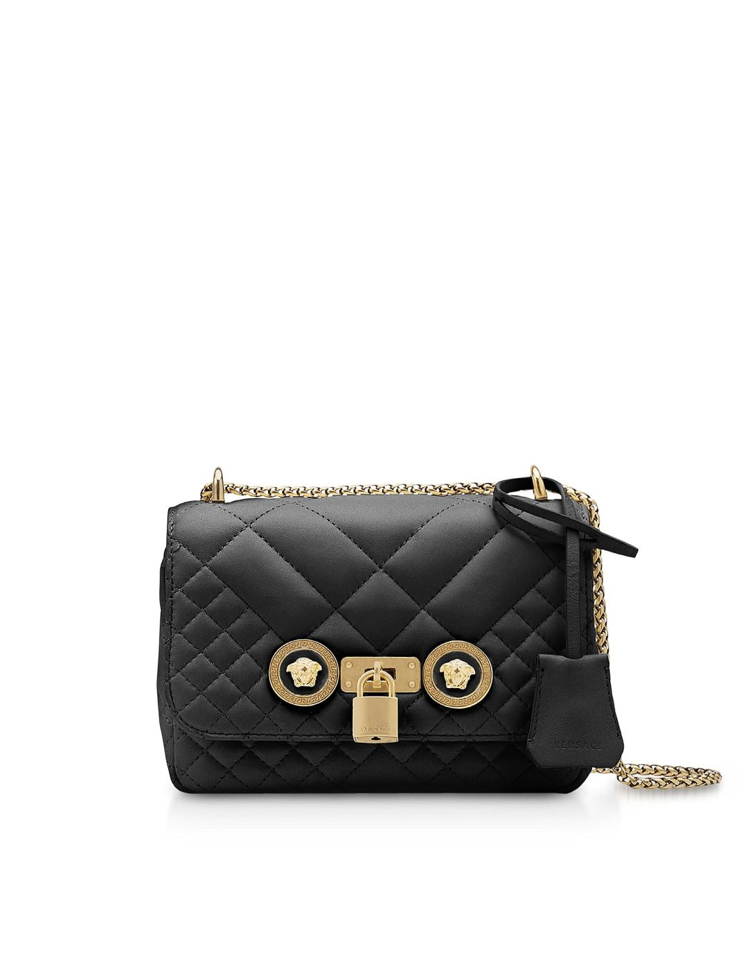 cf43abce891f Versace Small Quilted Leather Icon Small Shoulder Bag – Italist –  1