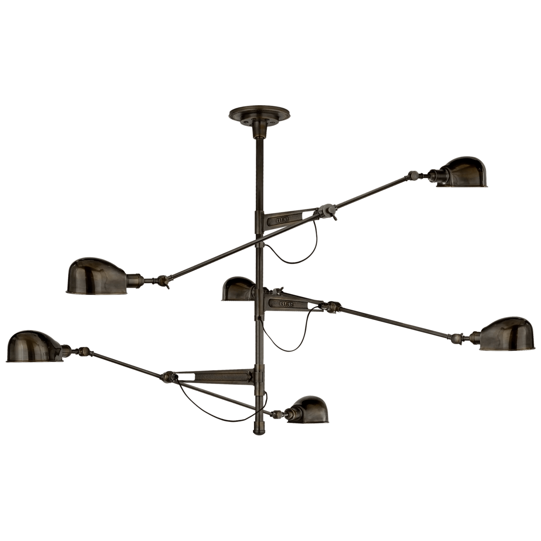 Rl 67 Extra Large Triple Arm Chandelier