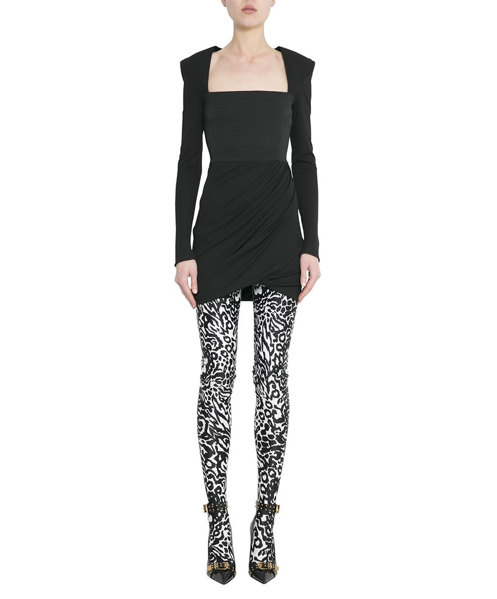Versace Black Crepe Draped Dress – Italist –  1 bd75d9c7c6723
