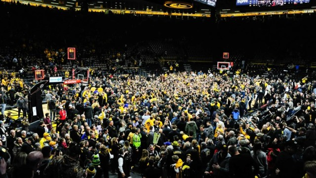 Image result for iowa storming the court