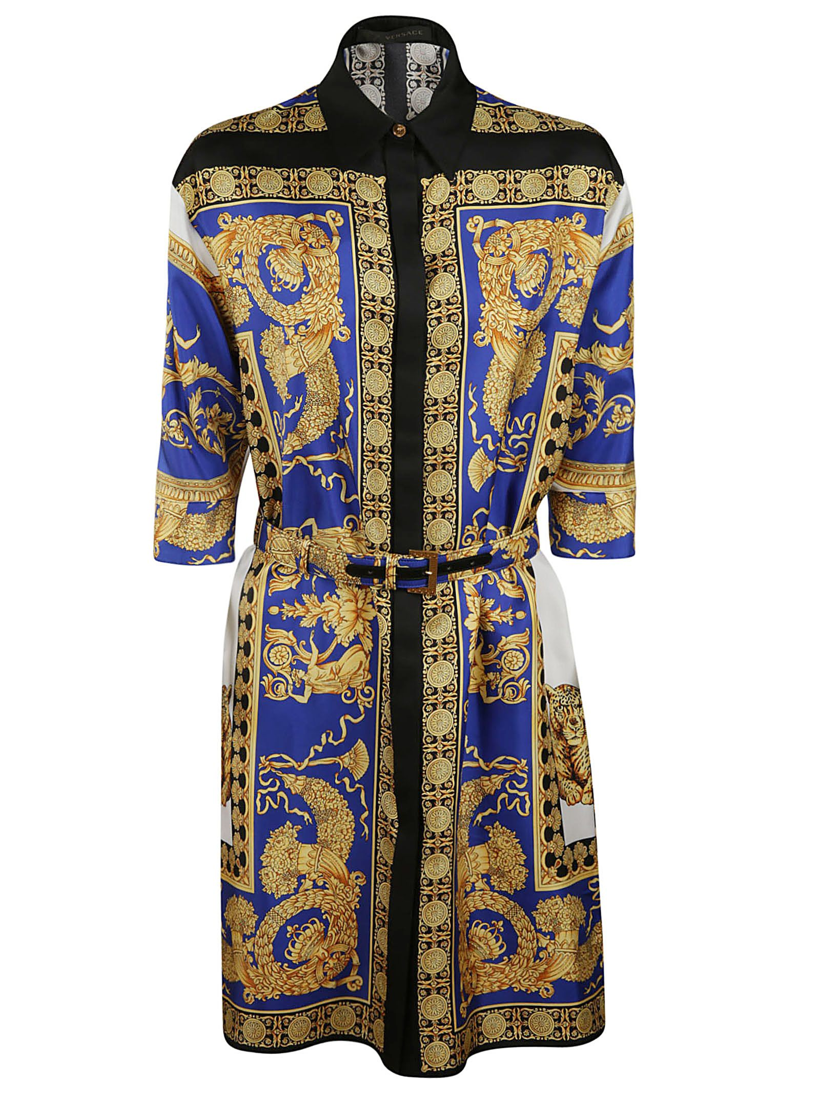 Versace Pillow Talk Print Shirt Dress