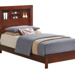 Glory Cherry Twin Bed With Bookcase Headboard Reviews Goedekers Com