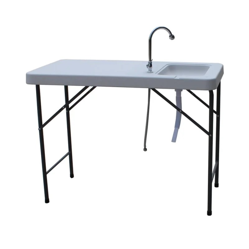 open box palm springs fish fillet table with 1 5 gal sink
