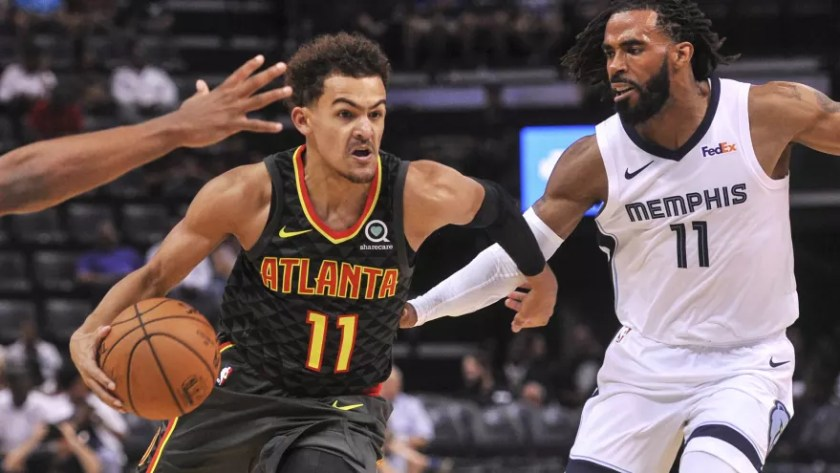 Image result for trae young mike conley