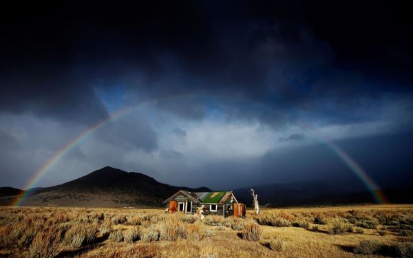 Abandoned House Under Rainbow Mac Wallpaper Download ...