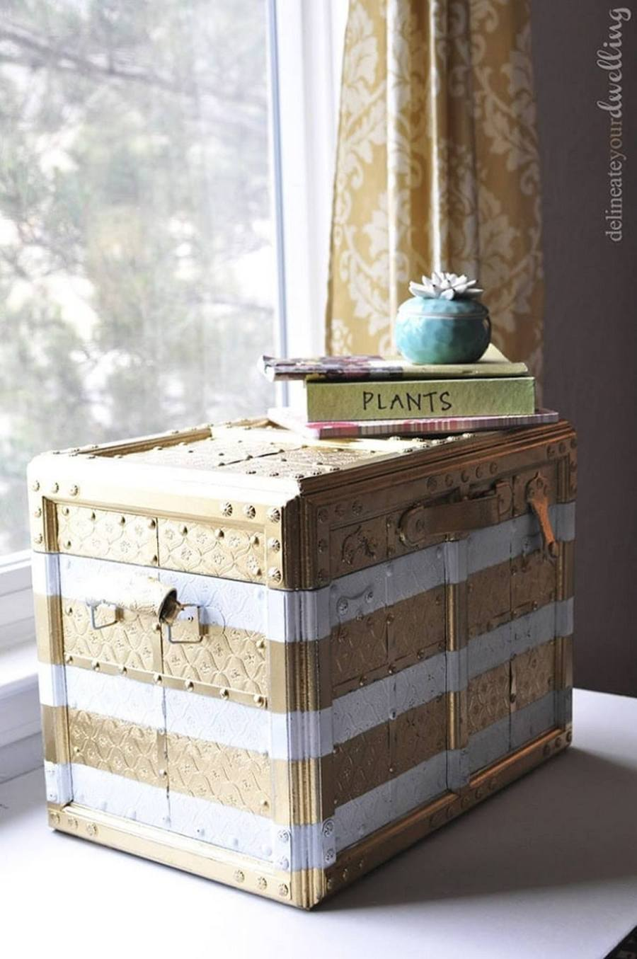 Trunks were used for storage and for carrying luggage but today they can be used too.