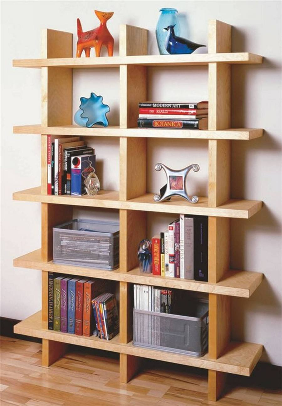 Can't find a decent bookcase that suits your style or that fits in your price range? Then just build your own.