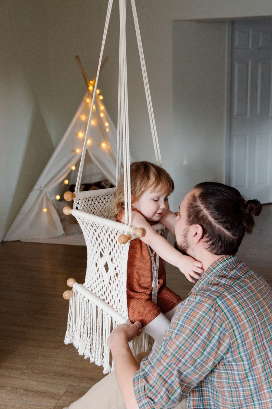 How your children play on their playset will change as they grow and develop. The 2-year-old in the toddler swing will become the 5-year-old who can swing all by herself to the adventurous 10-year-old climbing the knotted rope ladder.