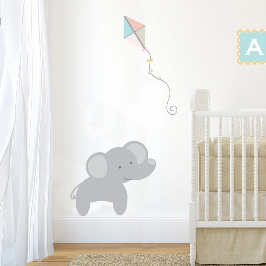 An elephant nursery is an excellent gender-neutral infant room concept for your toddler.