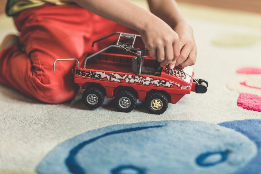 Playing with cars may aid your child's emotional, social and physical development.