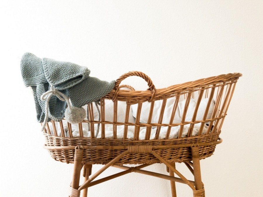 Many newborns start their sleeping lives in a bassinet or other bedside sleeper in their parents' room.