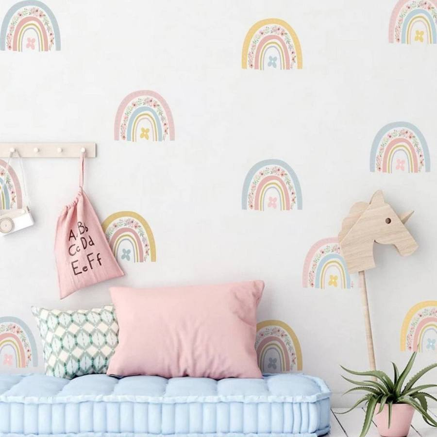 Who doesn't love a rainbow baby room? Happy, bright, and filled with promise, it's no wonder why rainbow nurseries and playrooms are so popular right now!