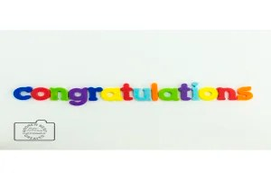 Congratulations greeting card linking to Etsy store to buy