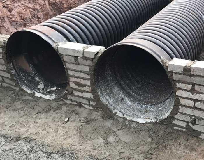 Tubulações de polietileno corrugado para drenagem pluvial