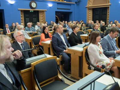 An Estonian Parliament session, known as Riigikogu