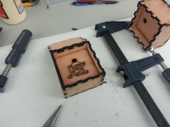 Jewelery box works great, but could use something to keep the piece in place.