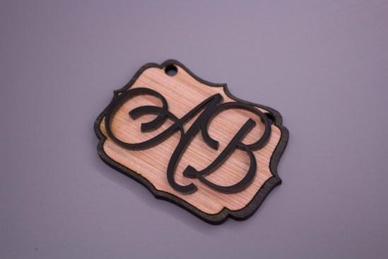 Layering wood and acrylic.