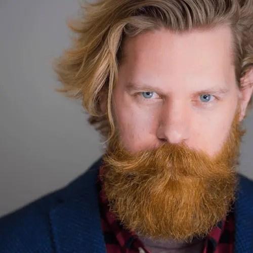 Bushy Long Beard with Handlebar Mustache