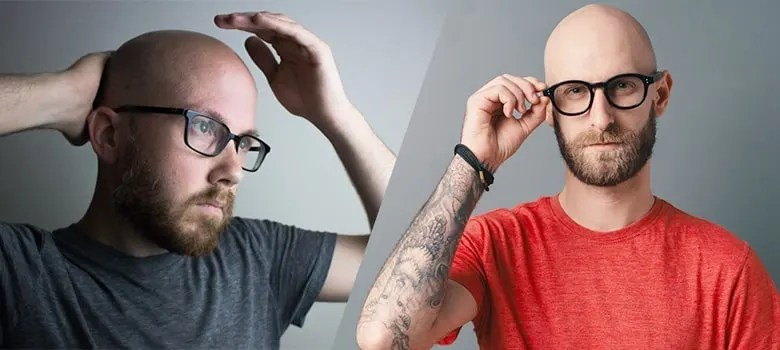 shaved head and beards