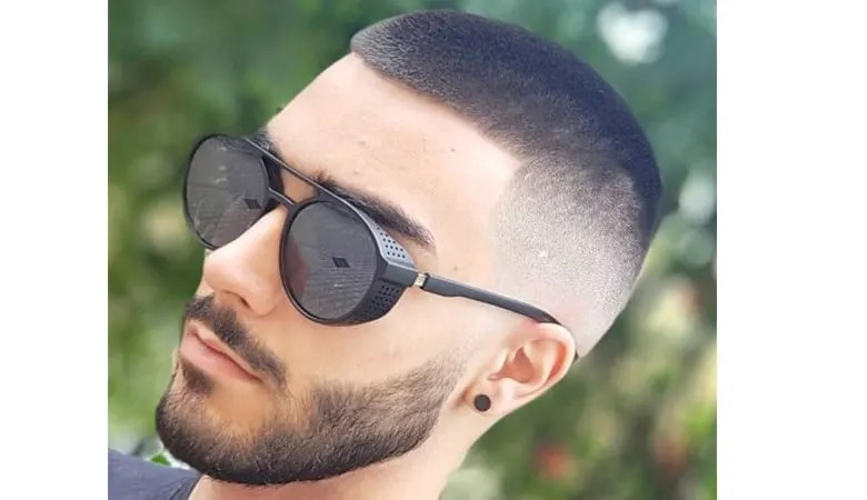 on side shaved hairstyle for men - short sides long top haircut