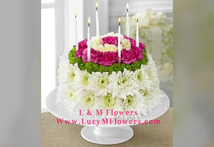 Birthday Flower Cake In Midlothian Il L M Flowers