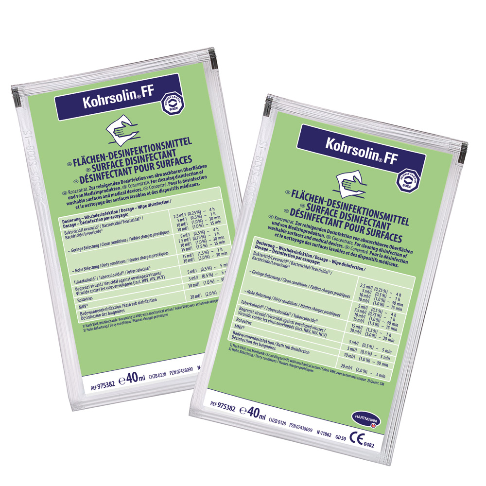 Kohrsolin FF Disinfecting Cleaner 40 ml bags