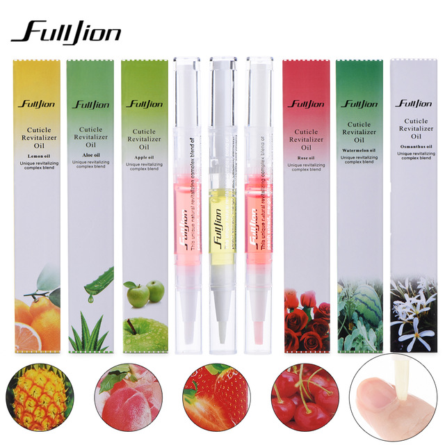 Fulljion 1pcs New Cuticle Revitalizer Oil Fruits Nail Art Treatment Manicure Soften Pen Tool Nail Cuticle Oil For Nails Makeup