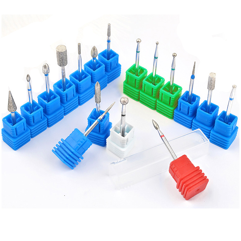 Ladymisty Diamond Nail Manicure Drill Milling Nail Cutter Electric Nail Drill Bit For Manicure Pedicure Drill Bits Accessories