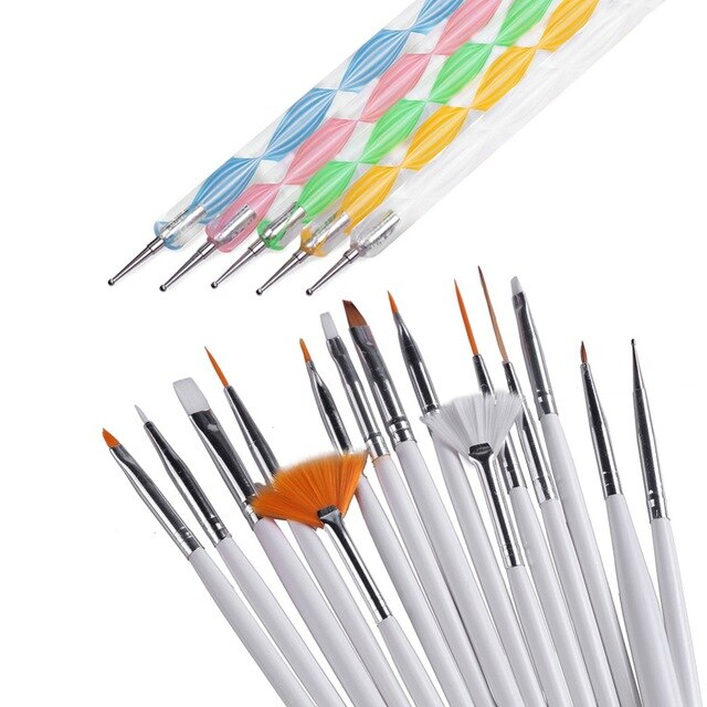 3pcs Nail Tools Nail Brush Dotting Painting Drawing Pen Nail Art Brush Gel Polish Brushes Tools Gel Painting Pen Tool