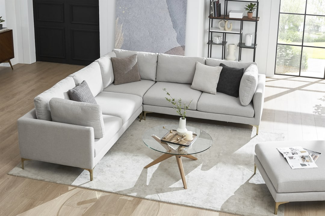 adams l shape sectional sofa dove grey