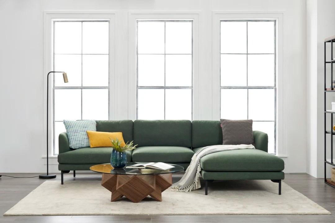 pebble chaise sectional sofa left