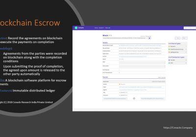 Blockchain Escrow