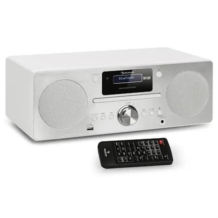 harvard micro chaine stereo dab dab radio fm lecteur cd usb blanc blanc