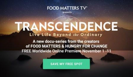 Transcendence - Live Life Beyond the Ordinary: FREE with Food Matters 1 Transcendence - Live Life Beyond the Ordinary: FREE with Food Matters