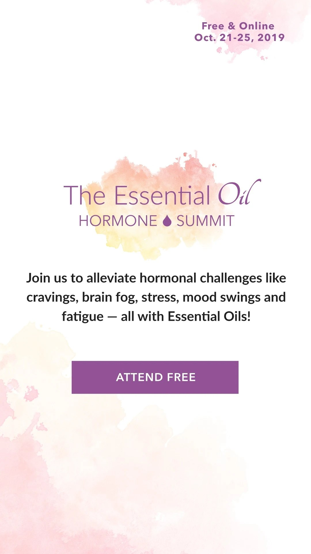 The Essential Oil Hormone Summit
