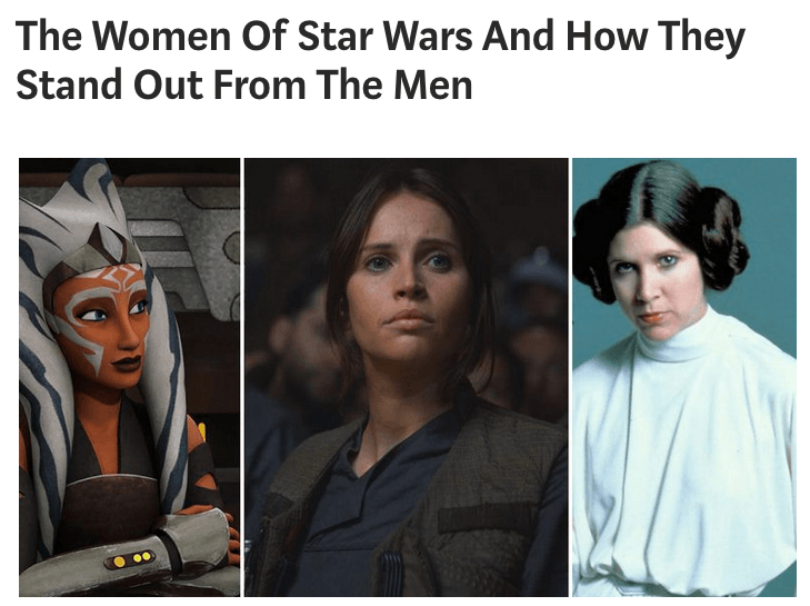 The Women Of Star Wars And How They Stand Out From The Men