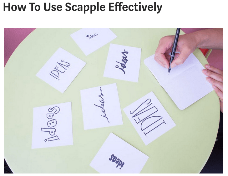 How To Use Scapple Effectively