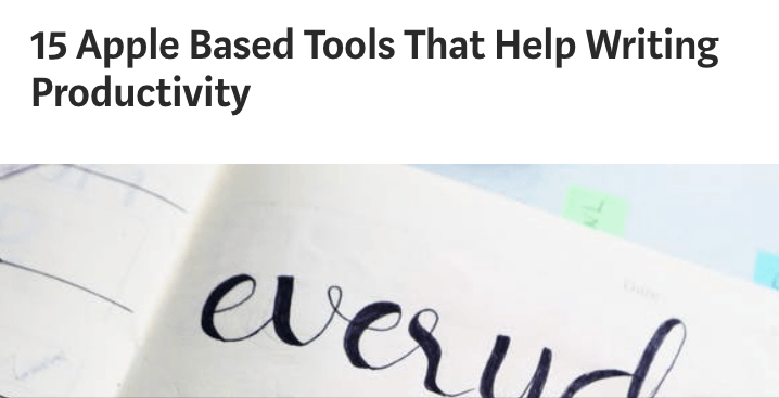 15 Apple Based Tools That Help Writing Productivity