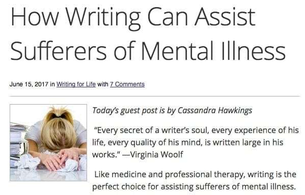 How Writing Can Assist Sufferers of Mental Illness
