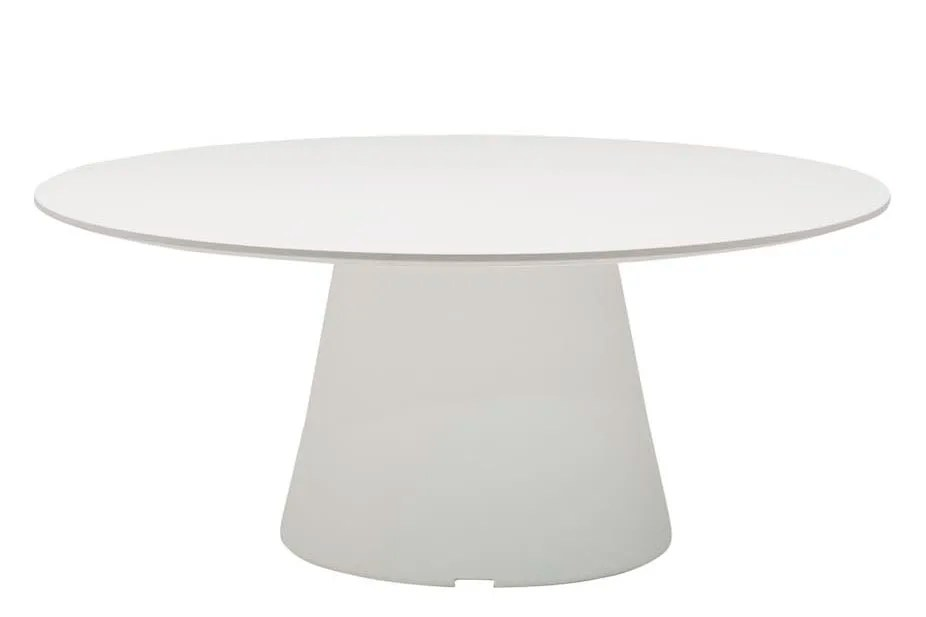 reverse occassional solid surface round coffee table by andreu world