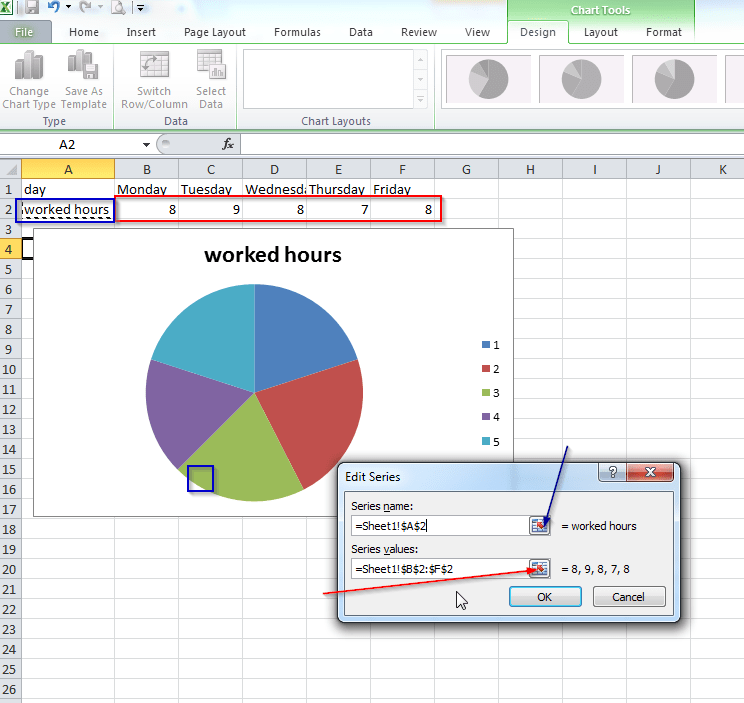 Excel 2007 Create Custom Pie Chart For Example With Horizontal