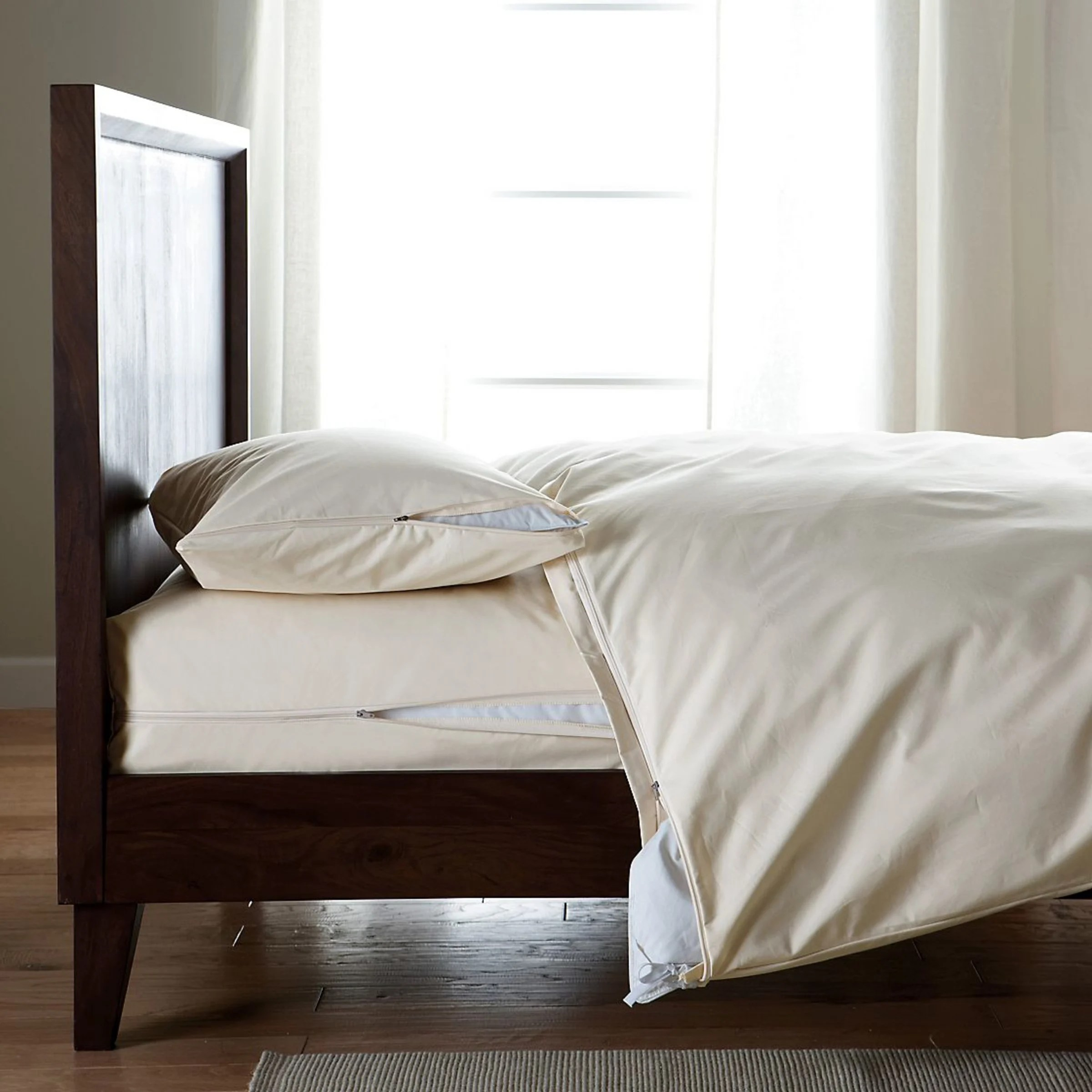 organic cotton allergy pillow protector natural