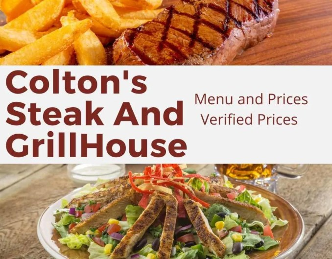 Coltons Menu and Prices | Best Steak and Grill In America 2021?