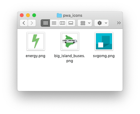 Folder containing icons with transparent backgrounds or solid backgrounds